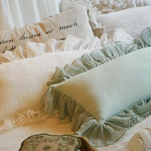 Linen frill cushion [2colors]