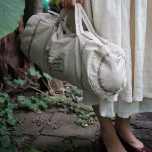 Linen travel bag