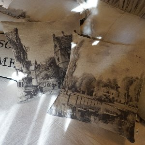 Linen bruges cushion [2types]