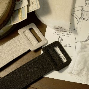 Linen square buckle belt [2colors]