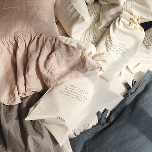 Linen long frill pillow cover [6colors]